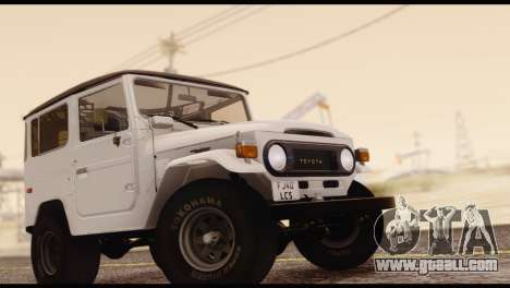 Toyota Land Cruiser (FJ40) 1978 for GTA San Andreas right view