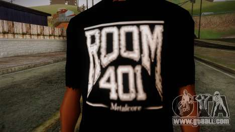 Room 401 T- Shirt for GTA San Andreas third screenshot