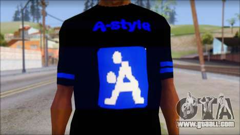 T-Shirt A-Style for GTA San Andreas third screenshot