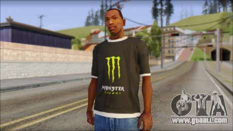 Monster T-Shirt Black for GTA San Andreas