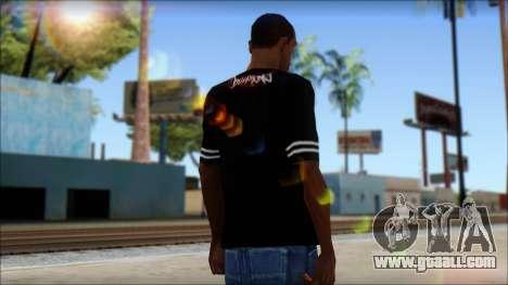Billabong T-Shirt Black for GTA San Andreas second screenshot
