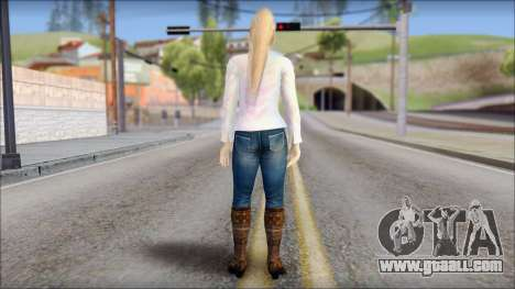 Sarah from Dead or Alive 5 v4 for GTA San Andreas second screenshot