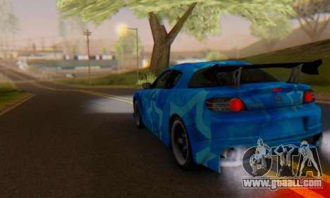 Mazda RX-8 VeilSide Blue Star for GTA San Andreas side view
