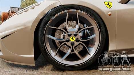 Ferrari 458 Italia Speciale Novitec Rosso for GTA 4 back view