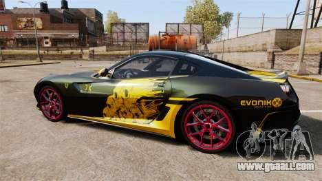 Ferrari 599 GTO PJ3 for GTA 4 left view