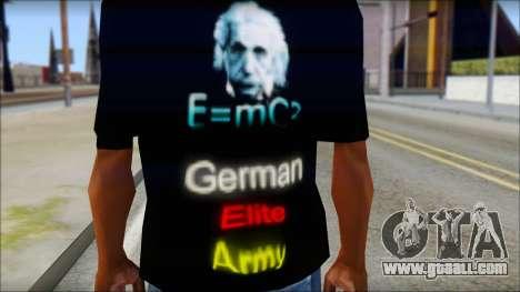 German Elite Army Emcore Fan T-Shirt for GTA San Andreas third screenshot