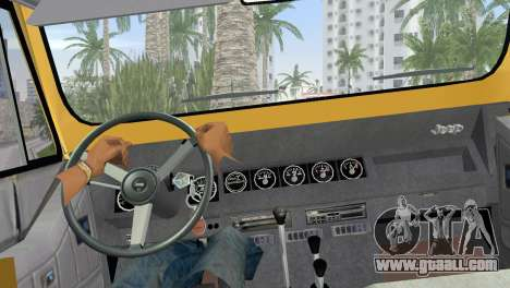Jeep Wrangler 1986 v4.0 Fury for GTA Vice City back left view