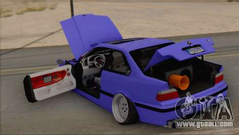 BMW M3 E36 Coupe Slammed for GTA San Andreas back view