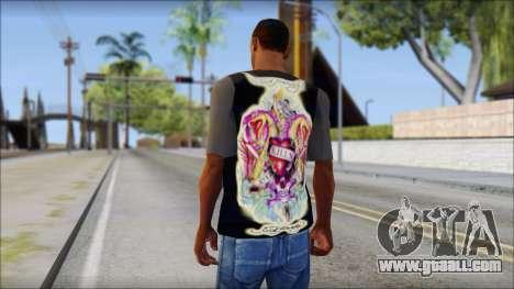 Ed Hardy T-Shirt for GTA San Andreas second screenshot