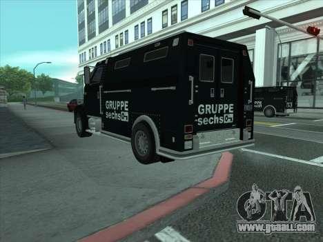 Securicar из GTA 3 for GTA San Andreas back left view