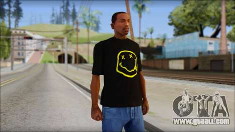 Nirvana T-Shirt for GTA San Andreas
