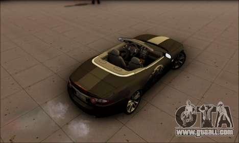 Jaguar XK 2007 for GTA San Andreas back left view