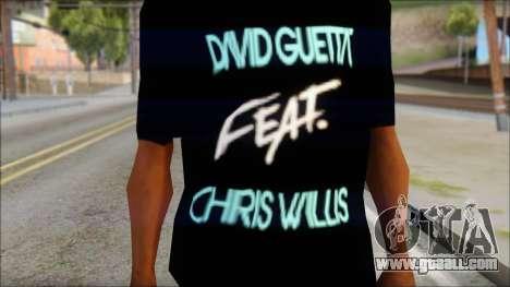 David Guetta Gettin Over T-Shirt for GTA San Andreas third screenshot