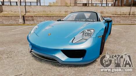 Porsche 918 2013 for GTA 4