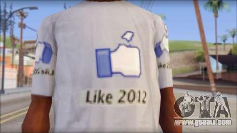The Likersable T-Shirt for GTA San Andreas third screenshot