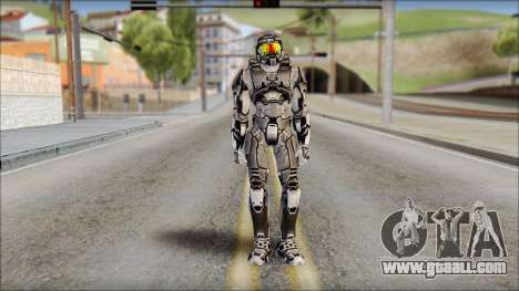 Masterchief Black from Halo for GTA San Andreas
