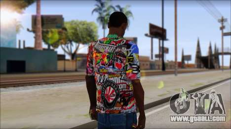 Sticker Bomb T-Shirt for GTA San Andreas second screenshot