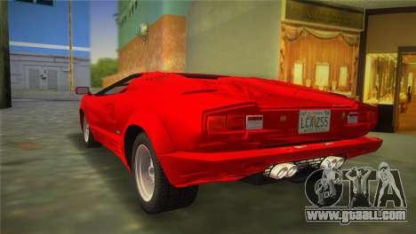 Lamborghini Countach 1988 25th Anniversary for GTA Vice City left view