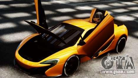 McLaren 650S Spider 2014 for GTA 4 back left view