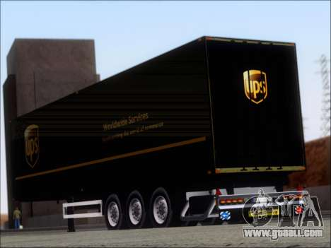 Прицеп United Parcel Service for GTA San Andreas back left view