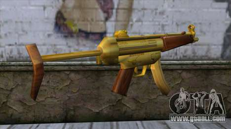 MP5 Gold from CSO NST for GTA San Andreas second screenshot