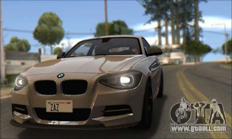 BMW M135i for GTA San Andreas right view
