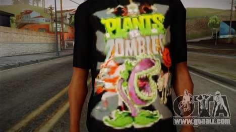 Plants versus Zombies T-Shirt for GTA San Andreas third screenshot