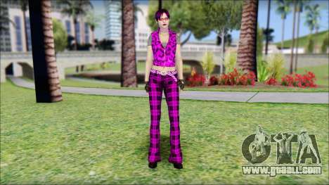 Rock Chicks Purple Ped for GTA San Andreas