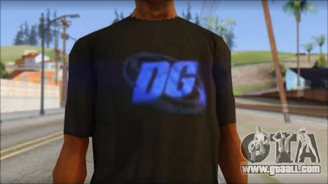 DG Negra T-Shirt for GTA San Andreas third screenshot