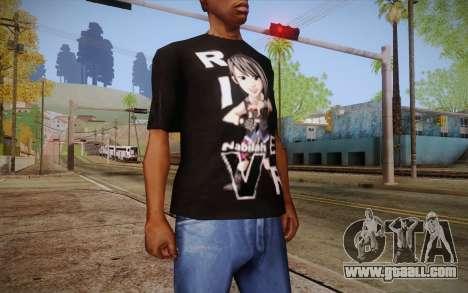 Anime Nabilah Shirt for GTA San Andreas third screenshot