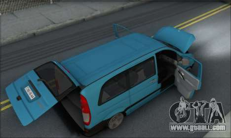 Mercedes-Benz 115 CDI Vito 2007 Stance for GTA San Andreas upper view