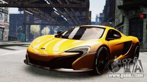 McLaren 650S Spider 2014 for GTA 4