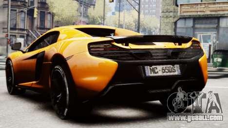 McLaren 650S Spider 2014 for GTA 4 left view