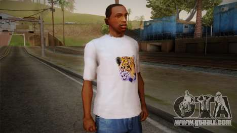 Leopard Shirt White for GTA San Andreas