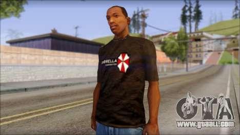 Umbrella Corporation Black T-Shirt for GTA San Andreas