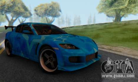 Mazda RX-8 VeilSide Blue Star for GTA San Andreas right view
