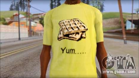 Waffle T-Shirt for GTA San Andreas third screenshot