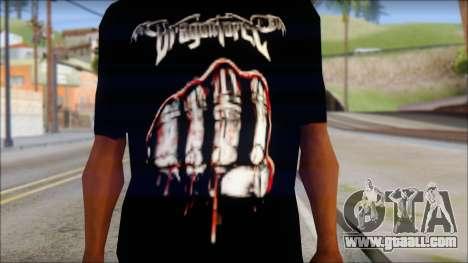 Dragonforce In Your Face Fan T-Shirt for GTA San Andreas third screenshot