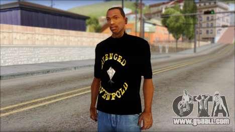A7X Golden Deathbat Fan T-Shirt for GTA San Andreas