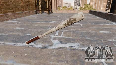 Baseball bat Camo P001 for GTA 4 second screenshot