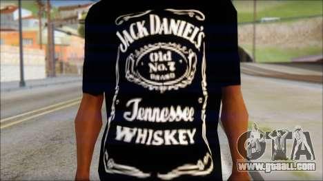 Jack Daniels Fan T-Shirt Black for GTA San Andreas third screenshot
