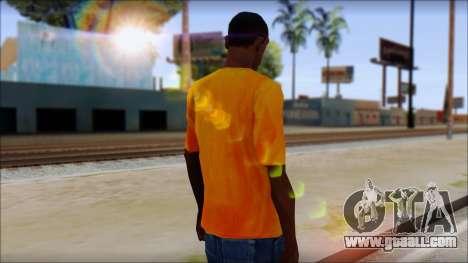 Cj Fox T-Shirt for GTA San Andreas second screenshot