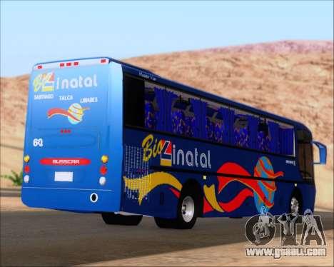 Busscar El Buss 340 Bio Linatal for GTA San Andreas back left view