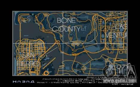 Map racing style Trace Map for GTA San Andreas third screenshot
