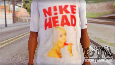 N1KE Head T-Shirt for GTA San Andreas third screenshot