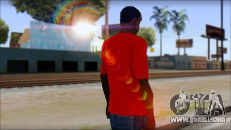 Vidick from Infected Rain Red T-Shirt for GTA San Andreas second screenshot