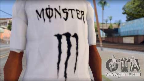 Monster Black And White T-Shirt for GTA San Andreas third screenshot