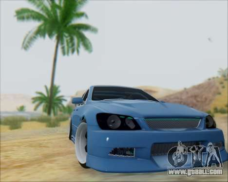 Toyota Allteza C-West for GTA San Andreas back left view