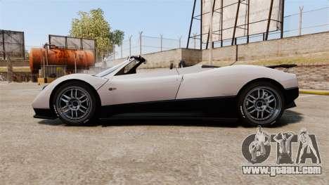 Pagani Zonda C12S Roadster 2001 v1.1 PJ2 for GTA 4 left view