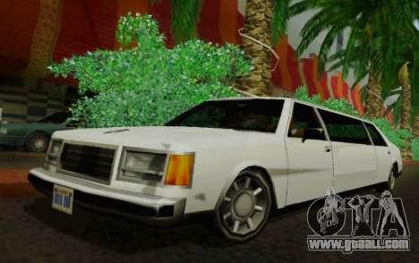 Washington Limousine for GTA San Andreas